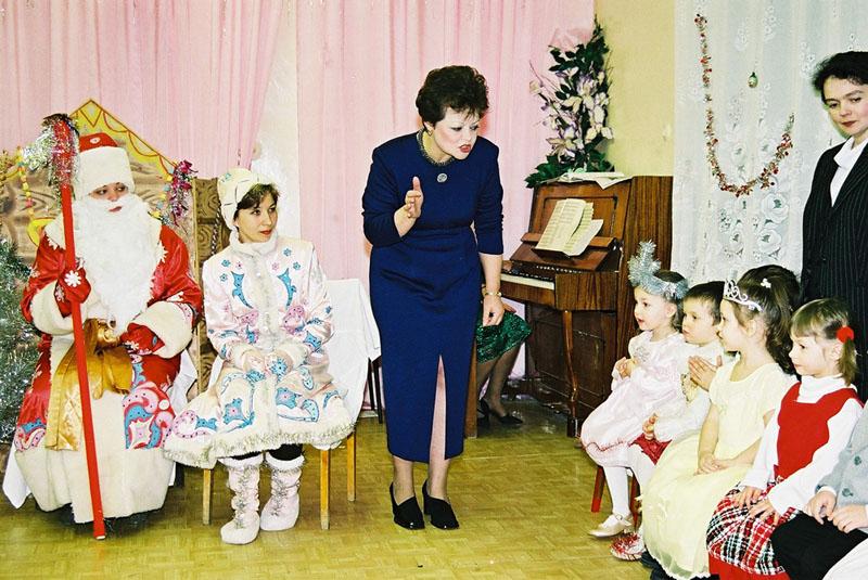 Встреча нового 2001 года. Новогодний утренник. Декабрь 2000 года