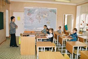 1 Сентября 2003 года :: Начало занятий в 1-м классе начальной школы